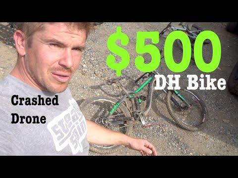 $500 Downhill Bike but I crashed my Mavic Pro Drone