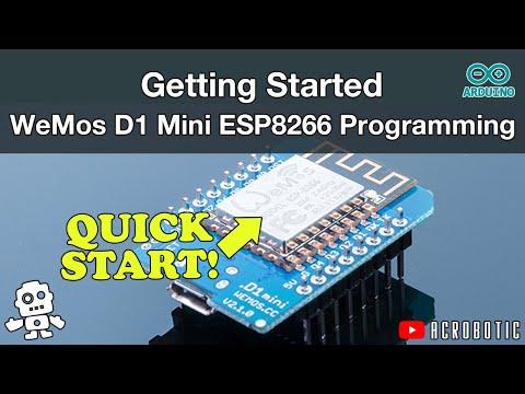 WeMos D1 Mini ESP8266 Programming Using Arduino IDE (Mac and Windows)