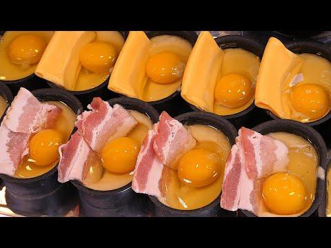 갓구운 베이컨 계란빵, 치즈 계란빵 - 대학로 / egg bread with bacon - korean street food