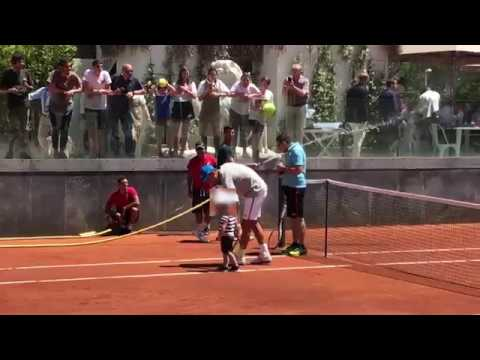 #ibi17 Djokovic, fine dell'allenamento con sorpresa!