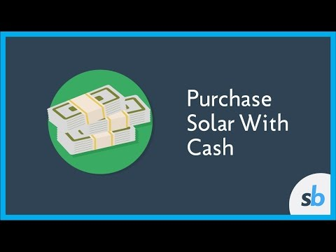 Purchasing Your Solar System with Cash
