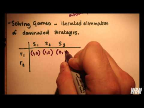 Game Theory #2 - Common Knowledge of Rationality and Example; Elimination of Dominated Strategies