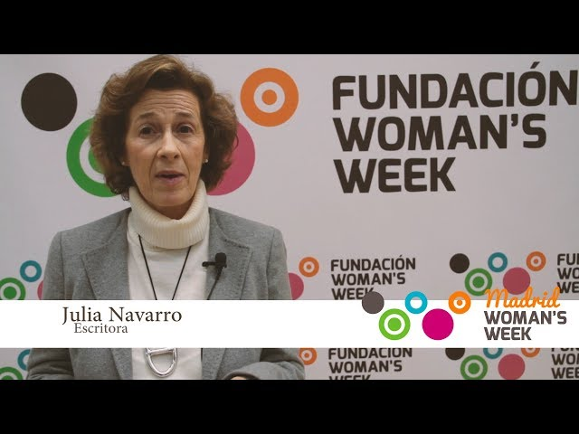 Julia Navarro recomienda que asistas a Madrid Woman\'s Week 2018