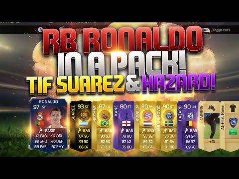 newest 144ed 1f071 97 RECORD BREAKER RONALDO IN A PACK + TIF SUAREZ   PURPLE HAZARD BEST FIFA  15