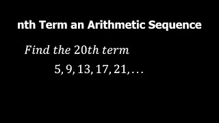 Grade 10 Math  How to Find the nth Term of an Arithmetic Sequence