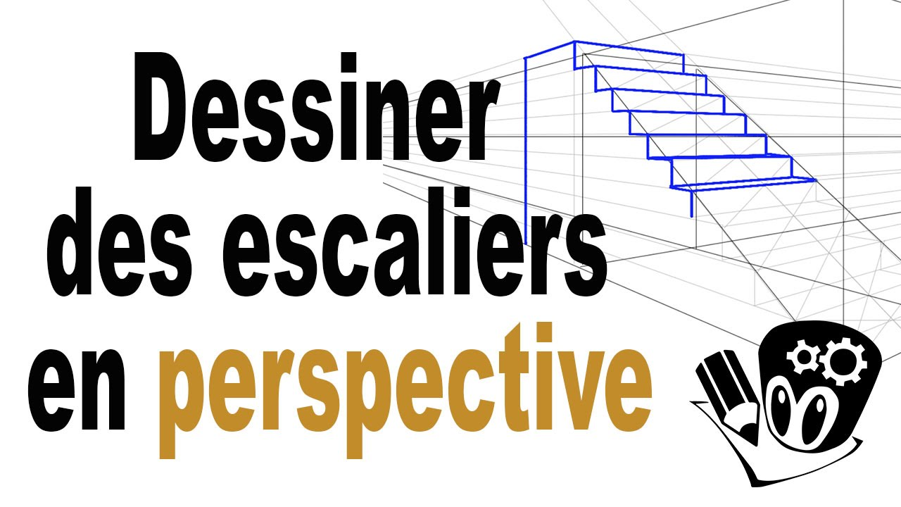 Perspective D Un Escalier Images : Comment dessiner des escaliers en perspective youtube