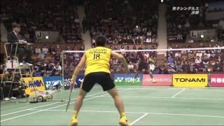 2015 全日本総合バドミントン選手権大会 佐々木vs桃田