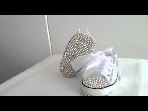 3707fee3b8b7 shoes baby Converse Swarovski crystals