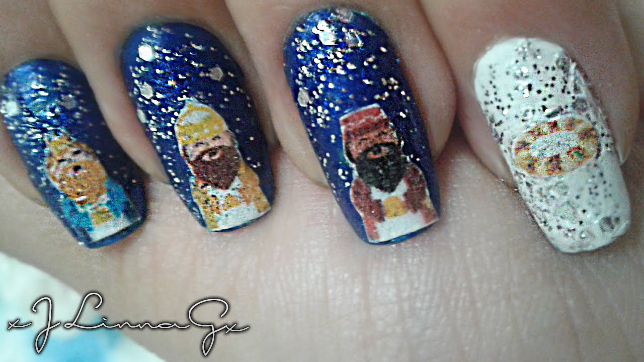Uñas de Reyes Magos / Wise Men Nails - YouTube