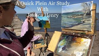 A Quick Plein Air Study, Beach Scene! with Jessica Henry
