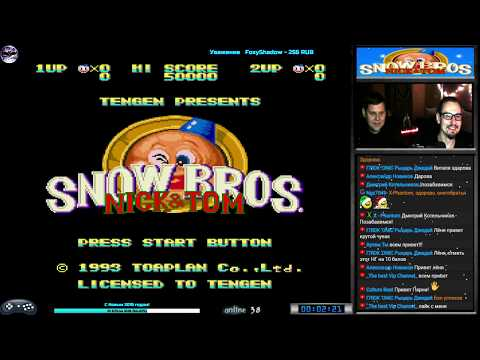 Snow Bros прохождение Co-op Dezgun [ hard ] (J) Игра (SEGA Genesis, Mega Drive SMD) 1993 Стрим RUS thumbnail