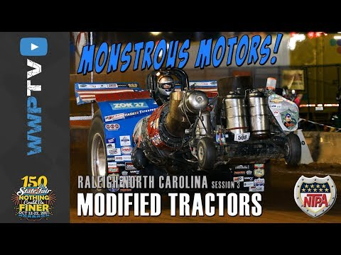 MONSTROUS NTPA MODIFIED TRACTORS pulling at Raleigh October 14 2017
