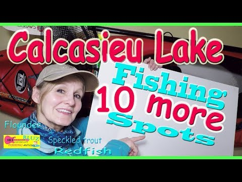 10 MORE Calcasieu Lake Fishing Spots ! - Flounder, Speckled Trout, Redfish - Big Lake Louisiana
