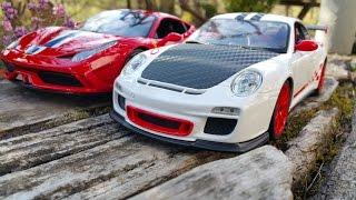 FERRARI 458 SPECIALE VS. PORSCHE 911 GT3RS 1:18 Bburago