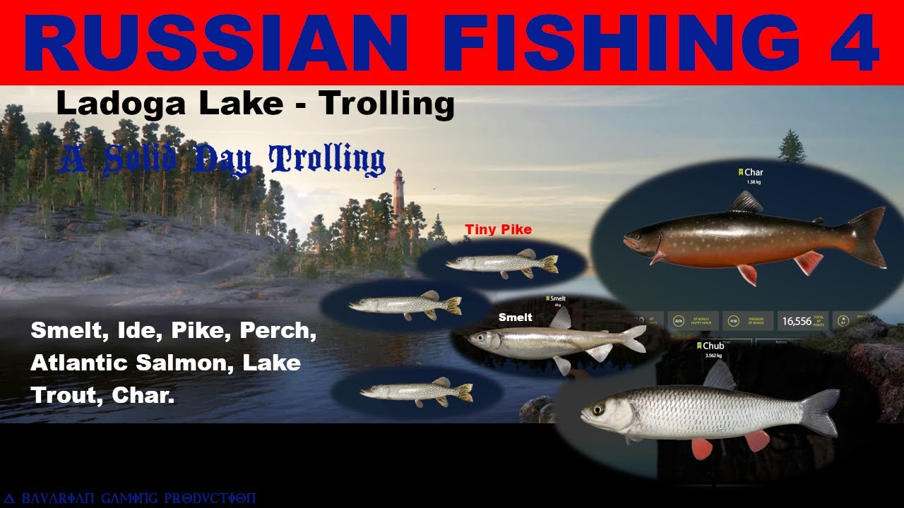 RUSSIAN FISHING 4 - Ladoga Lake Trolling - CHAR, SMELT ...