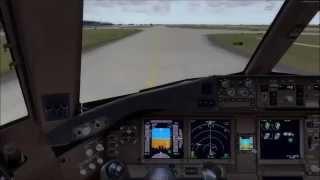 P3D 2.5 HD - AeroLogic PMDG 777 landing at Leipzig Time Lapse