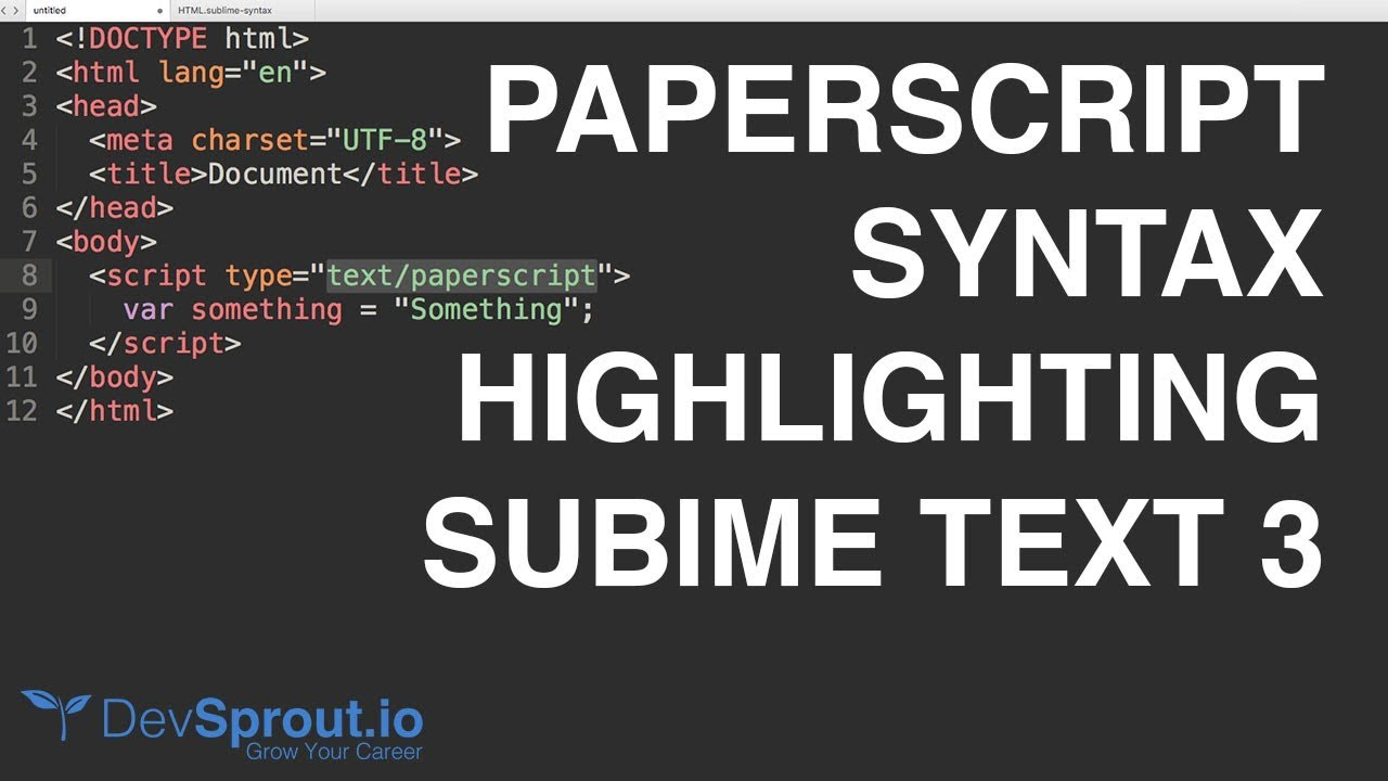 Paperscript Syntax Highlighting in Sublime Text 3
