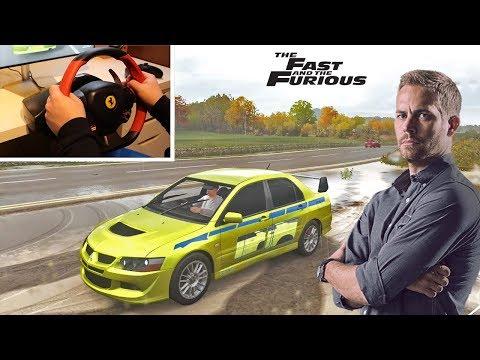 Forza Horizon 4 Brian's Mitsubishi Evo VIII MR (Thrustmaster 458 Spider Steering Wheel) Gameplay