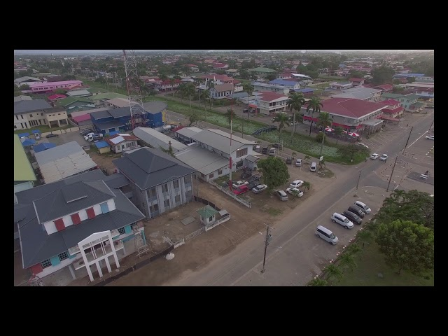 Aerial Shots Suriname Nickerie Bilo Market