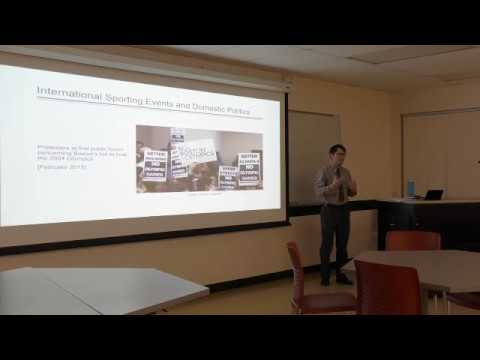 Dr. Scott Jedlicka at WSU Sport Management Research Meeting