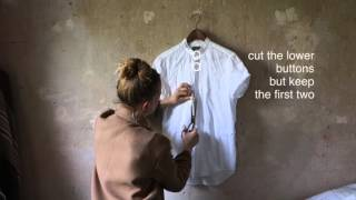 Männershirt zum casual Sommershirt umwandeln - easy DIY- UPCYCLING