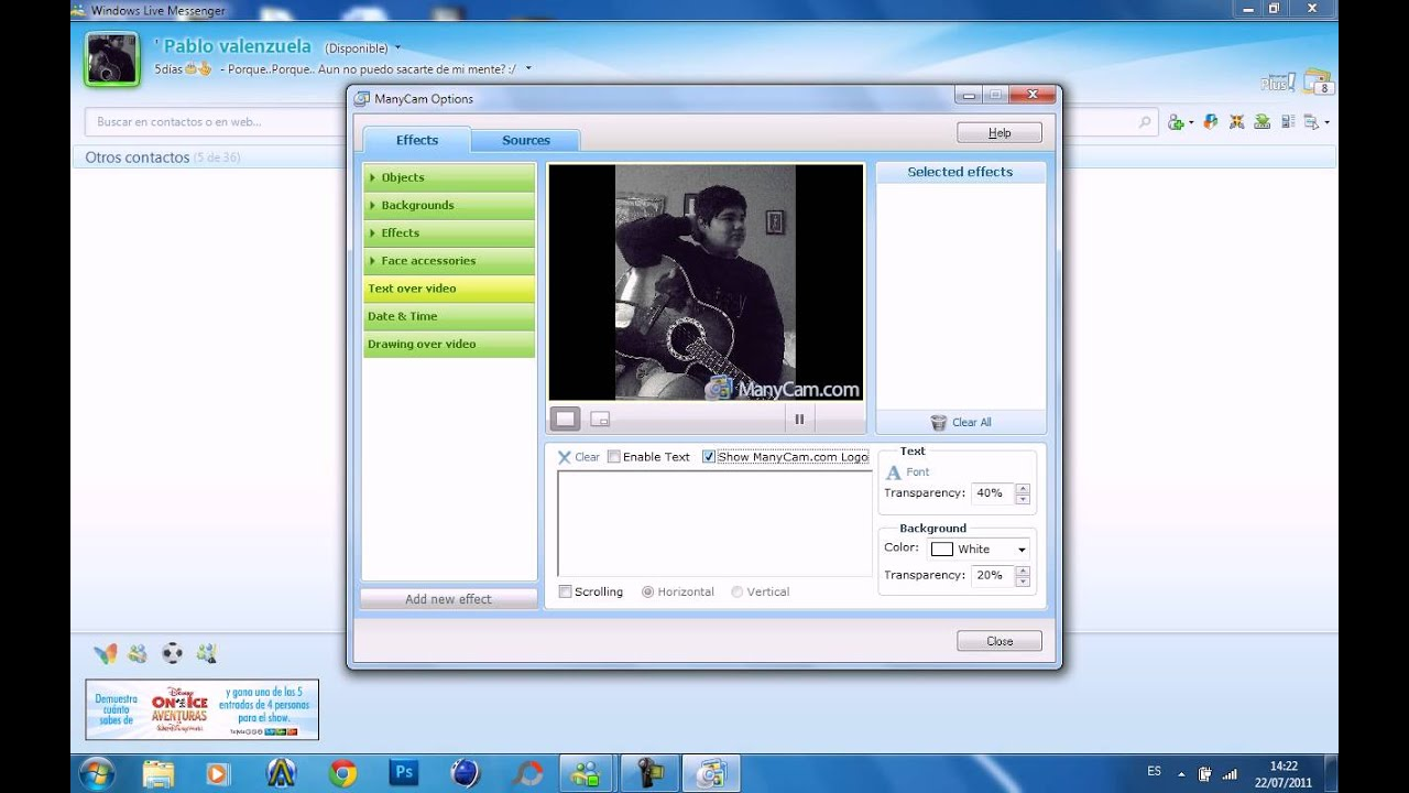 Como usar o background image - Como Usar Many Cam En Msn
