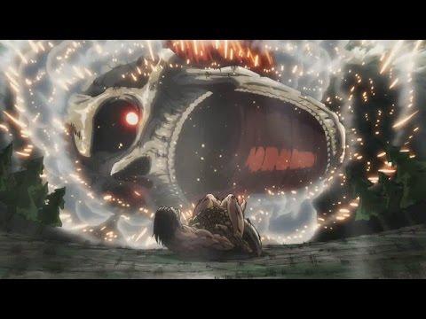 Eren Vs Reiner - AMV - Shingeki No Kyojin Season 2 - FULL FIGHT HD - Walk Again - Broken Rail