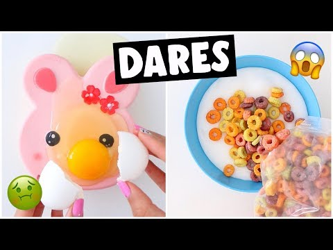 EXTREMELY WEIRD SLIME & SQUISHY DARES?! *making soda cloud slime*