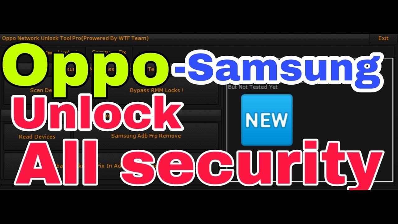 Oppo Unlock Tool | Samsung Frp Bypass 100% Working New