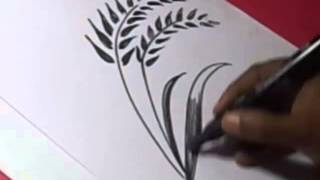 How to draw RICE SEEDS DRAWING for kids step by step