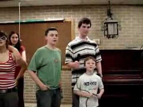 """""""American Pie"""" at Karaoke night at the Tufts Library"""