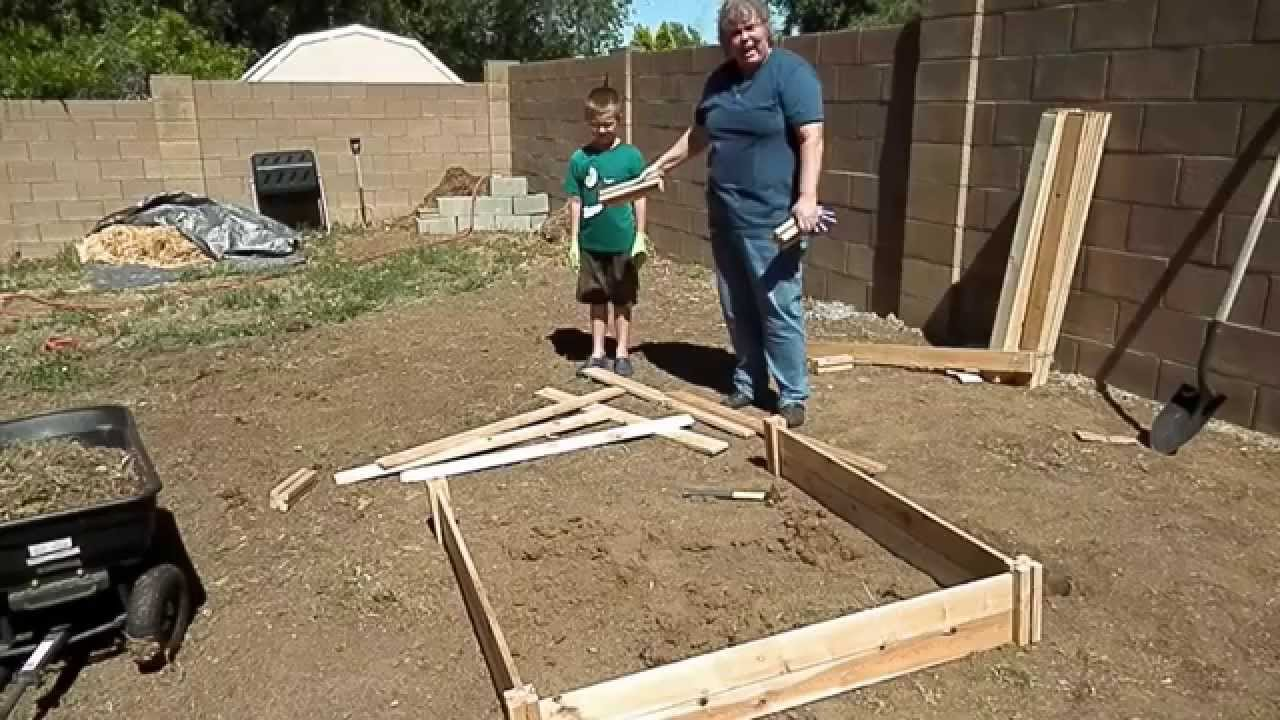 Building A Raised Bed Garden With Greenes Fence   YouTube