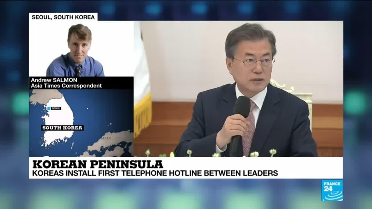 فرانس 24:North Korea Talks: Koreas install a first telephone hotline between leaders