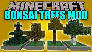 BONSAI TREES MOD - Granja de Arboles con bonsai :V - Minecraft mod 1.12.2