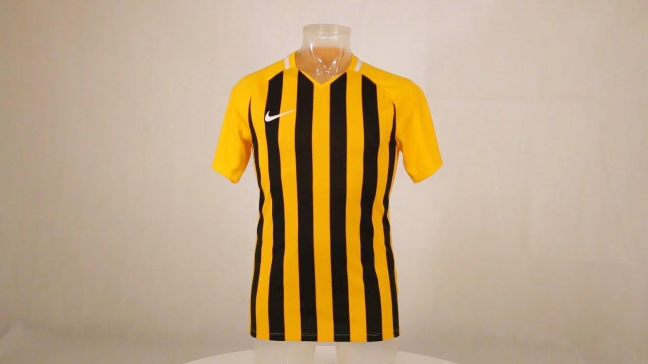 ab506b53 Nike Striped Division III Short Sleeve Senior Football Shirt University Gold /Black