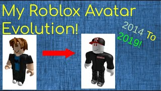 My Roblox Avatar Evolution! 2014 To 2019!