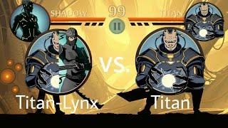 Shadow Fight 2 Titan-Lynx vs Titan