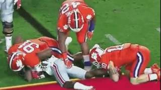 Clemson Player Groping Ohio State Player on the Field