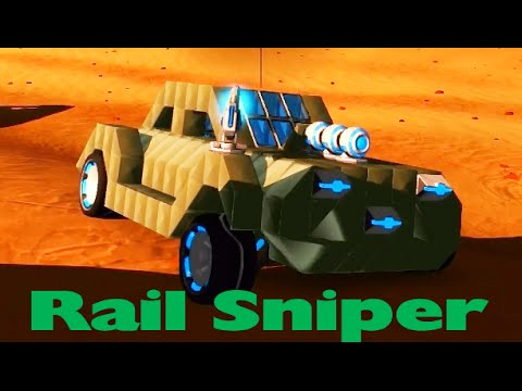 Robocraft - Build A Cheap And Fast Rail Sniper Car! - YouTube