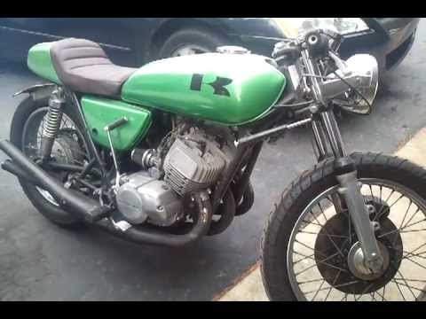 1975 kawasaki h1 500 triple cafe racer 2 stroke - youtube