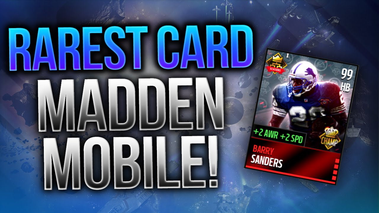 The Rarest Card In Madden Madden Mobile 16 Gameplay Youtube