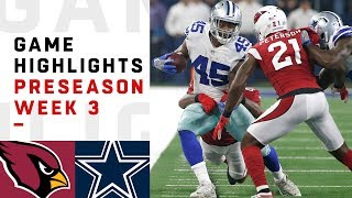 Cardinals vs. Cowboys Highlights   NFL 2018 Preseason Week 3