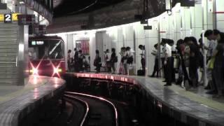 日本一過密ダイヤ 夕ラッシュ名鉄名古屋駅2番線 meitetsyu nagoya station