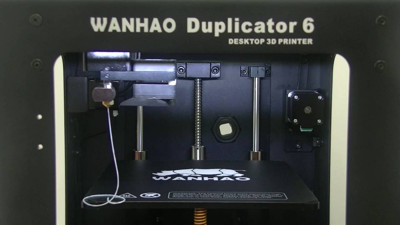 How does a Wanhao Duplicator 6 working and printing a rhino?