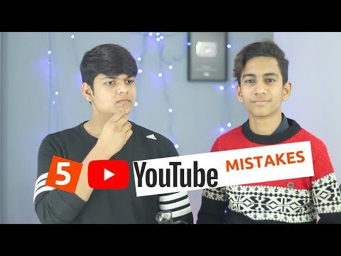 5 Biggest YouTube Mistakes YouTubers Do To Their Channels!