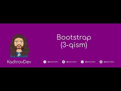 #9 – Bootstrap. 3-Qism. Veb-dasturlash kursi