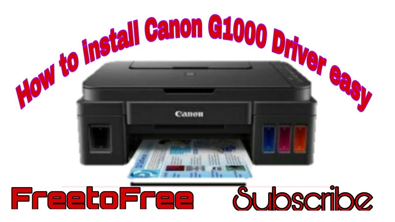 Canon Printer Computer Photo G1000 How To Install Canon G1000 Printer Driver Youtube