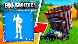 GOLF KART + GIANT EMOTE TRICK IS HILARIOUS!! (BIGGEST GUITAR EVER!) | Fortnite Funny Moments 220