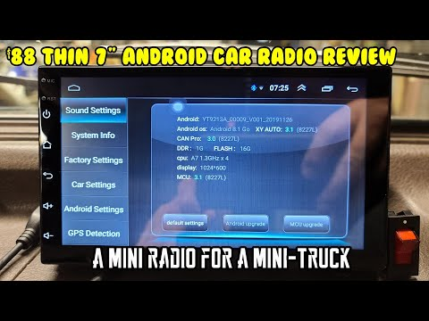 """Best On-Dash Cheap $88 Thin 7"""" Double Din Android Car Radio GPS Reverse Camera BT Mirror Review"""
