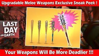 Upgradable Melee Weapons Exclusive Sneak Peek! Last Day On Earth Survival